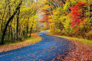 scenic drive through ohio in the fall