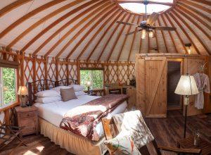 inside of yurt