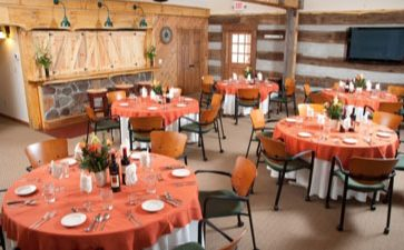 Meeting Space in Hocking Hills with tables